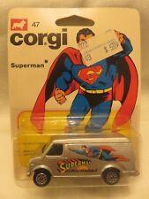 Vintage Corgi Jr. Superman 47 U.S.Van Silver DieCast DC Comics 1978