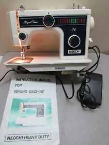 Vintage Sewing Machine Necchi Royal 3204FB Pedal Manual
