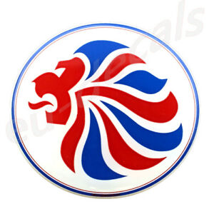 70.00mm 2.756inc Team GB Olympics Lion 3D Decal Domed sticker car truck uk flag