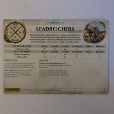WARSCROLL CARD LEADBELCHERS FEAST OF BONES WARHAMMER AOS