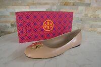 TORY BURCH Gr 40,5  10,5 Ballerinas Slipper Schuhe shoes beige NEU UVP 245 €