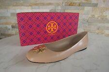 TORY BURCH Gr 40  10 Ballerinas Slipper Schuhe shoes beige NEU UVP 245 €