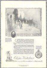 1921 ELGIN WATCH advertisement, Pocket Watch, Mudge Lever Escapement