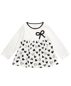 First Impressions Baby Girls Cotton Bow Heart Tu Angel White 6-9 months