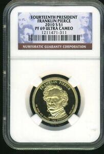 2010-S NGC PF-69 Ultra Cameo Franklin Pierce Presidential Dollar $1 Coin JE312