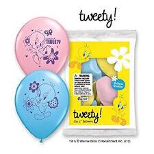 "6 pc 12"" Tweety Bird Looney Tunes Latex Balloons Party Decoration Birthday Pink"