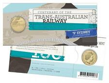 2017 Trans-Australian Railway $1 Coin - 'S' Sydney Counterstamp - Easter Show