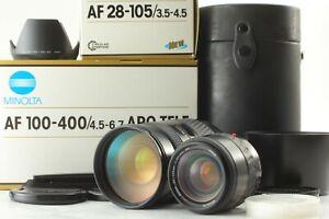 【MINT】 Minolta AF APO TELE ZOOM 100-400 F4.5-6.7 + AF ZOOM 35-105 F3.5-4.5 #432