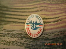 LYNCHBURG BICENTENNIAL 1786 -1986 PIN NEW COLLECTORS BE AWARE! tack pin buy it