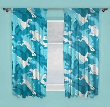 "Fortnite Turko Readymade Curtains 66"" x 54"" Drop Emotes Camo Design Bedding"