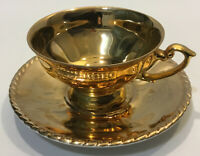 Du-Co Kunst Rehau Bavaria Wide Footed Cup Saucer Set~ Full Colour~Gold~White