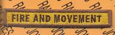 """303rd Armored """"FIRE AND MOVEMENT"""" TANK TAB patch"""