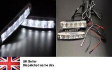 12V LED DAY TIME RUNNING LIGHT CLEAR WHITE LIGHTS DRL BMW E90 E91 UK SELLER