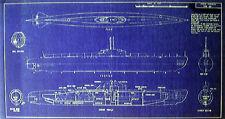 WW2 German UBoat Type XXl 1944 Blueprint Plan 11x21 (104)