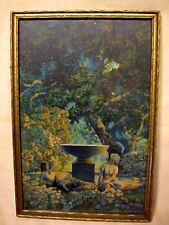 MAXFIELD PARRISH REVERIES EDISON MAZDA CALENDAR FRAMED