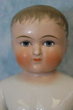 "15.5"" Antique German Blonde Frozen Charlie China Bathing Doll c1910 Large Size"