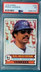 1979 Topps Baseball #700 Reggie Jackson PSA 7