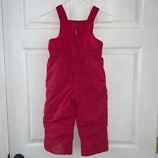 Girl's 4T L.L. BEAN Dark Pink Rose 1-PC Bib Overall Snow Pants GROW CUFFS EXC