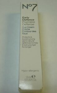 Boots No7 Early Defence Eye cream, Protects & Boots Young Skin 0.5 Oz