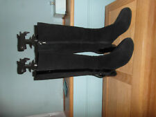 LADIES BLACK SUEDE KNEE HIGH BOOTS FROM CLARKS SIZE 7/40