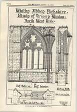 1912 Whitby Abbey Yorkshire Study Of Tracery Window North-west Aisle Winterburn