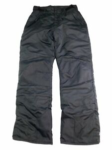 Womens All In Motion Snow Pants Size S Small Black Adjustable Waist