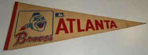 Vintage 1970/80s Atlanta Braves Full Size Pennant