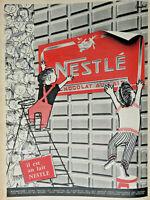PUBLICITÉ PRESSE 1957 NESTLÉ LE CHOCOLAT AU LAIT IMAGES LES MERVEILLES DU MONDE