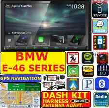 BMW E46 KENWOOD GPS NAVIGATION APPLE CARPLAY ANDROID AUTO CAR RADIO STEREO