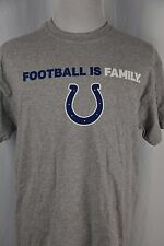 Nfl Indianapolis Colts Mens Womens Unisex Large Football Family Gray T-Shirt