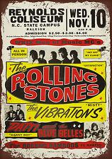 vintage retro style Rolling stones poster image metal sign wall door plaque