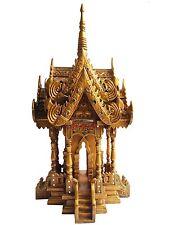 Tempel Geisterhaus,aus Chiang Mai,Thailand,Holz,geweiht,73 cm hoch,Gold antik,