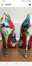 CHRISTIAN LOUBOUTIN  Women's Hawaii Pigalle Floral Pumps Size US 9 Euro 39 RARE