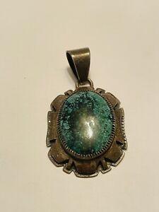 Dennis Ramone Navajo TURQUOISE Sterling Silver Pendant