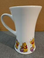 Disney Winnie the Pooh Tall Ceramic Coffee Tea Mug Cup ~ Unusual In & Out Shape
