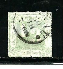 Thurn & Taxis Stamps- Scott # 22/A1-1/3sgr-Canc/H-1865-Rouletted
