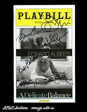 Autographed Playbill - A Delicate Balance (Glenn Close, John Lithgow +4) - JSA