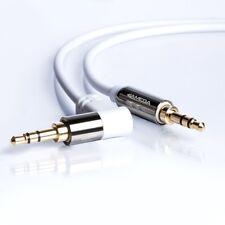 0,5m AUX Kabel Weiß 3,5mm Klinke-Stecker Winkel Stereo | für Handy MP3 TV 50cm