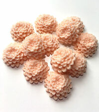 12 Edible Peach Chrysanthemums Spring Wedding Flowers Cake Decorations Toppers