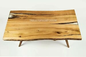 Handmade Wooden Dining Center Table Top Live Edge Traditional Furniture Decor