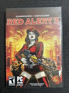 Command & Conquer Red Alert 3 (PC, 2008) Complete & Tested with Poster