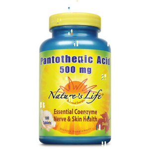 Nature's Life Pantothenic Acid, 500 mg | 100 ct