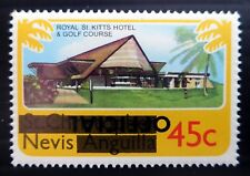 Nevis 1980 UFFICIALE SG05a invertito/Opt errore U/M NF606