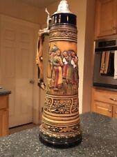 "Vintage Gerz W Germany Beer Stein Handmade Very Large 21.75"" tall"