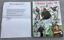 JOHN BRODIE SIGNED X24 CELEBRITY 1999 GOLF PGM,Bench,Smoltz,McGriff,Carter,LENDL