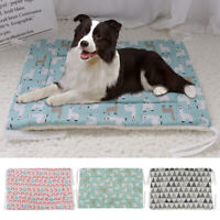 Dog Bed Mat Soft Crate Pad Washable Pet Cat Cozy Warm Kennel Cushion Sleep Nest