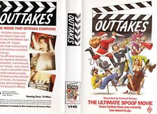 OUTTAKES - The ultimate spoof! -VHS -PAL -NEW-Never played!-Original Oz release