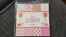 "Love to craft ""lets celebrate "" paper pack full pack 24 sheets"