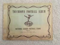 1948 Bowman Football Cards Empty Collectors Album with Numbered Spots