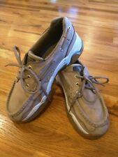 Rugged SHARK Men's 10.5 M Gray Boat Leather Shoes